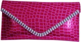 Womaniya Girls Party Pink  Clutch