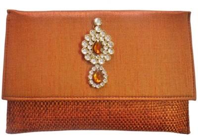 Bhamini Women Casual Orange  Clutch