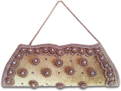 Linzina Wedding, Casual, Festive, Party, Festive Beige  Clutch