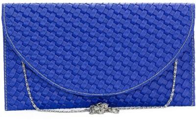 VERMELLO Women Casual Blue  Clutch