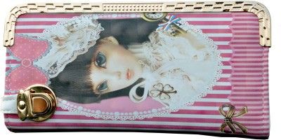 SK-Effects7 Casual Pink  Clutch