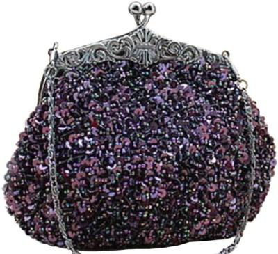 Chicastic Women Wedding Purple  Clutch