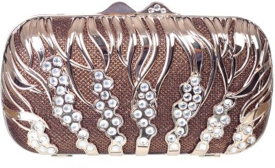 Aliza Women Formal Brown  Clutch