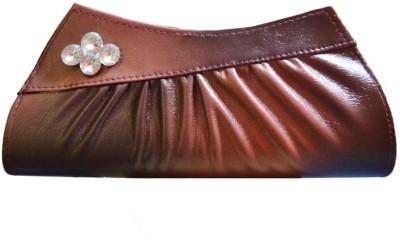 Glambing Women Casual Brown  Clutch