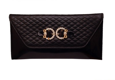 Prime Casual Black  Clutch