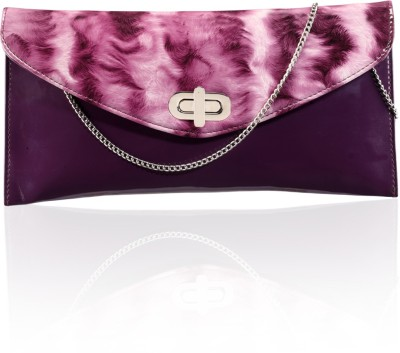 Contrast Girls Casual Pink  Clutch