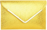iTrend India Women Party Gold  Clutch