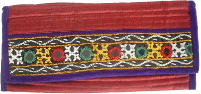 Sheela's Arts&Crafts Red  Clutch