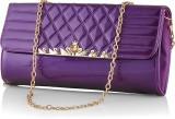 Eyeslanguage Women Casual Purple  Clutch