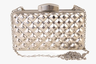 Urban Fashion Co. Party, Festive, Wedding Silver  Clutch