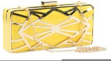 Done By None Women Party Yellow  Clutch