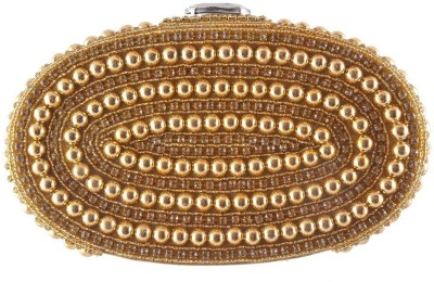 Uptown Laila Women Party Gold  Clutch