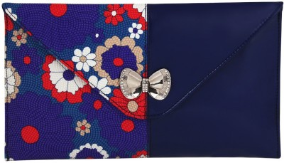 Gihaan Party, Festive Blue, Multicolor  Clutch
