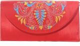 Slice Of Bengal Women Red  Clutch