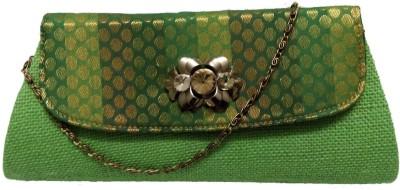 Avisha Creations Women Party Green  Clutch