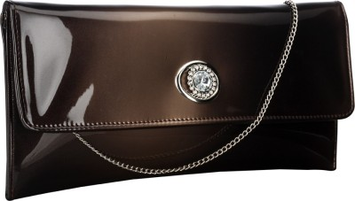 Contrast Girls Party Brown  Clutch