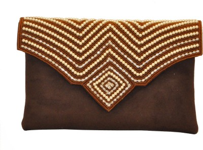 Women Trendz Festive Brown  Clutch