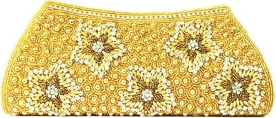 Zaira diamond Party, Wedding, Festive Gold  Clutch
