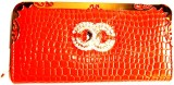 Achal Women Orange  Clutch
