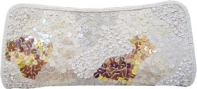 Himalaya Handicraft Party White  Clutch