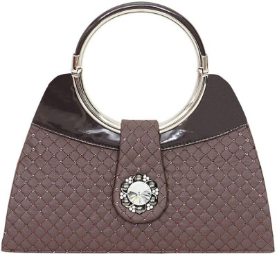 Swan Collection Girls, Women Casual, Festive, Party Grey  Clutch
