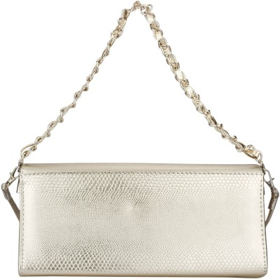 Swiss Design Women Party Gold  Clutch