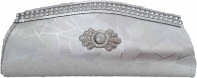 Modish Look Girls Wedding Silver  Clutch