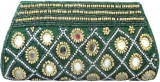 Maayas Women Party Green  Clutch