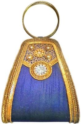 Bhamini Women Party Blue  Clutch