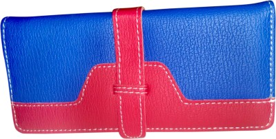 A To Z Creations Women, Girls Casual, Party Blue, Red  Clutch