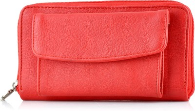 Butterflies Women Casual Red Artificial Leather Wallet