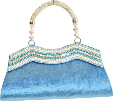 Women Trendz Women Wedding Blue  Clutch