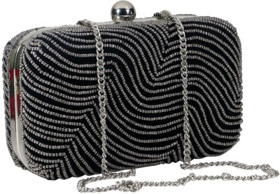 Sadaf Black  Clutch