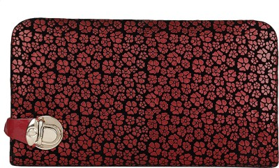 Fashion Hikes Party Red, Black  Clutch