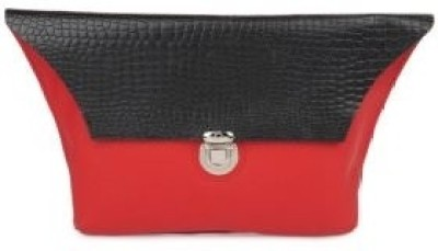 Fume Women Party Black, Red  Clutch