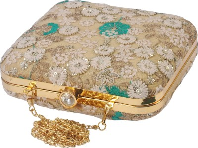 SATVAH Gold  Clutch