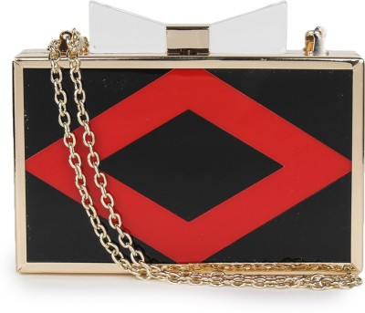 Amatra Girls, Women Party, Casual, Formal Black, Red  Clutch