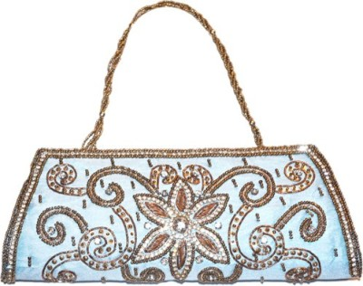 Asian Aura Blue  Clutch