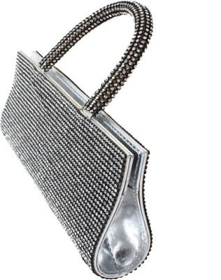 Dooda Party Silver  Clutch