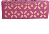 Whate Look Women Casual Pink  Clutch