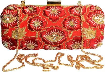 Glitter Accessories Wedding, Party, Festive Red  Clutch