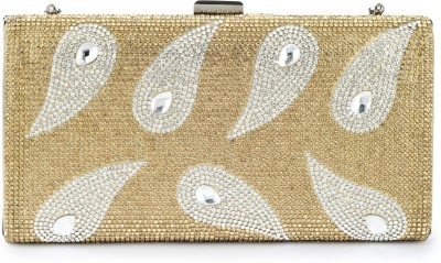 Naitik Products Women Casual, Party Gold  Clutch