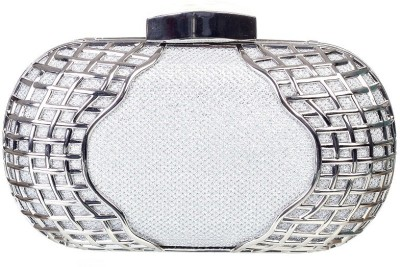 Aliza Women Formal Silver  Clutch