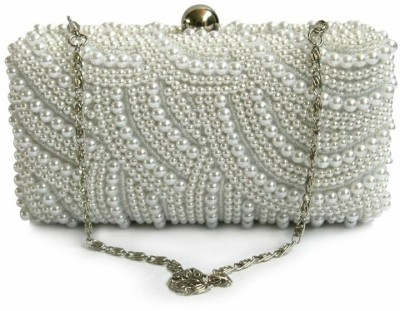 Inspired Living Women Party White  Clutch