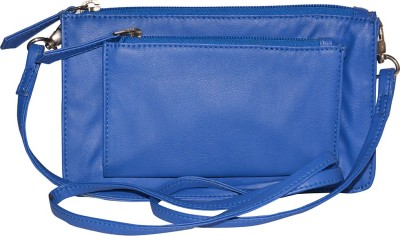 Famous by Payal Kapoor Casual Blue  Clutch