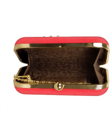 Lizzie Casual, Festive, Formal, Party, Sports, Wedding Red  Clutch