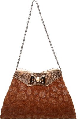 Tripssy Women Casual, Party Brown  Clutch