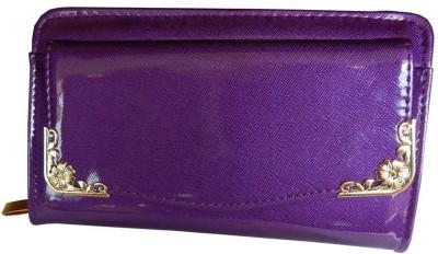 Navaksha Women Party Purple  Clutch