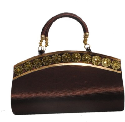 Arti Women Party Brown  Clutch