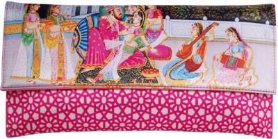 Womaniya Girls Casual Pink  Clutch